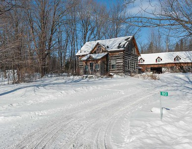 Pioneer Home In Winter