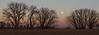 Boulder moonrise