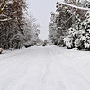 Division Avenue in heavy snow