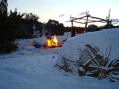 Fire at pre dawn
