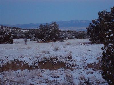 Winter solstice sunrise touching the western Jemez Range