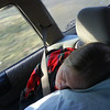 Steph sleeps in the car on the way to the Ohio Convention 09