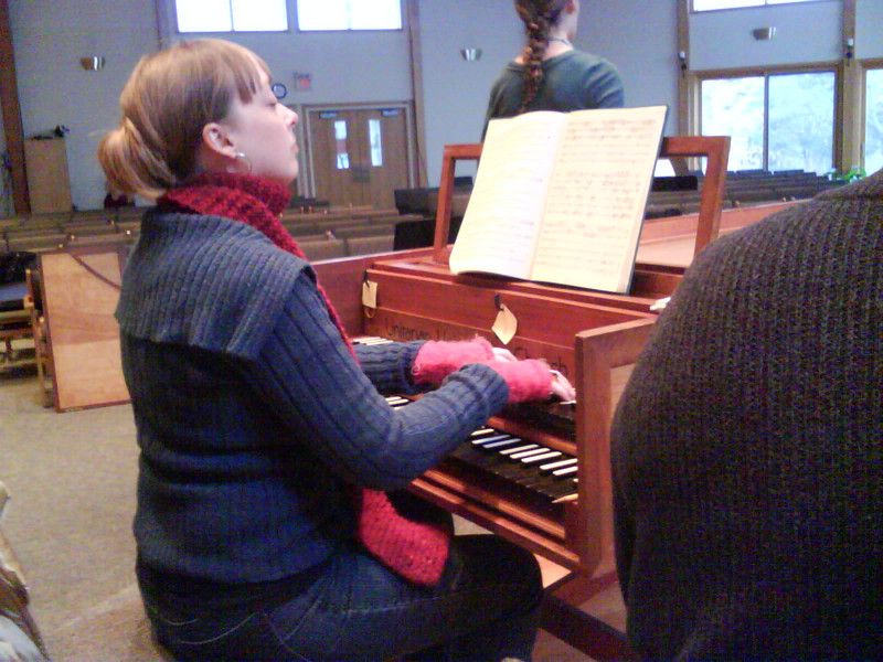 Sally, the pianist at the UU church of Bloomington