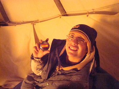Raine,  a happy New Years Eve in the tipi