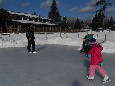 Ice Skating at Tall Timber.