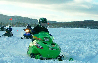 The next generation of snowmobilers.