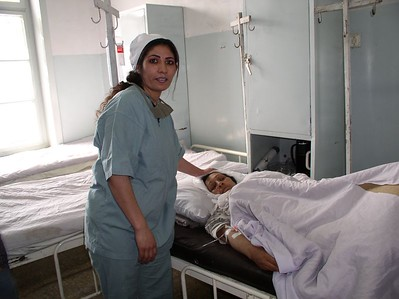 """An RBH doctor taking care of her mother after a surgery. The doctors, nurses and cleaners are working harder than ever and the rewards are plentiful: cleaner and safer place for women.  Albert Einstein said """"Nothing happens until something moves""""."""
