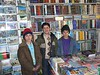 Here are my friends in the Behzad Book Store on Chicken Street. The youth on the left  (age 11) is the artist we enjoy ! The other boys are his cousins (ages 12-9)