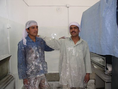 Re-painting the nursery. Afghan painters are great-they primed, repaired, sanded, and painted 3 huge rooms in 10 hours.