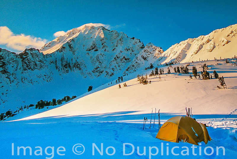 Winter camp in the White Cloud Mountians, Idaho