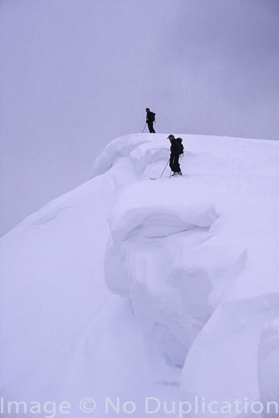 On the edge, Sawtooth Mountains, Idaho