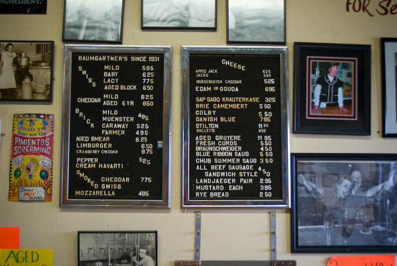 Baumgartner's in Monroe, WI, is where serious cheeseheads gather for<br /> sandwiches and beers.