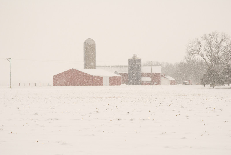 Winter in Green County, WI.