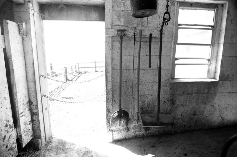 An Amish barn interior in Wisconsin's Driftless Region.