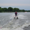Alex earns his waterskiing stripes.