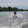 Alex earns his waterskiing stripes.
