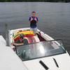 Kurt arranges for us to use a ski boat for a couple of days.