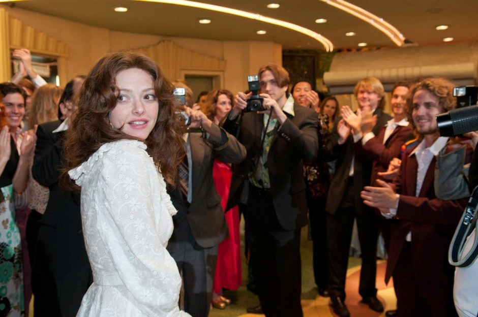 """. Amanda Seyfried plays the pioneering \""""Deep Throat\"""" porn star in the flick \""""Lovelace,\"""" in theaters Aug. 9."""