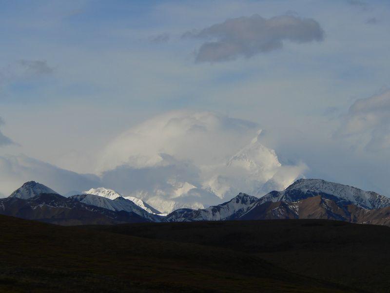 A scoop of vanilla ice cream or a cloud-enshrouded Mt. McKinley
