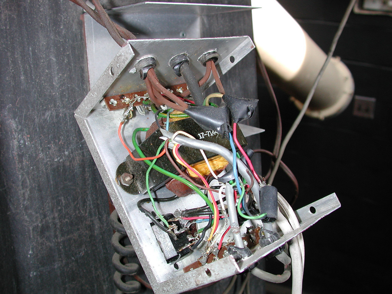 Control box could use re-wiring.