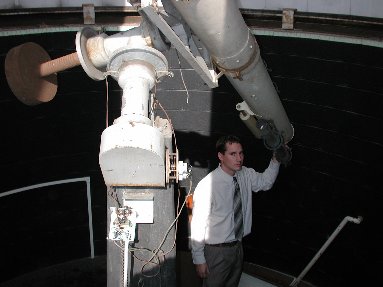 Jayson and the 9 inch refractor.