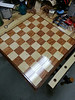 Chessboard - African mahogany and maple