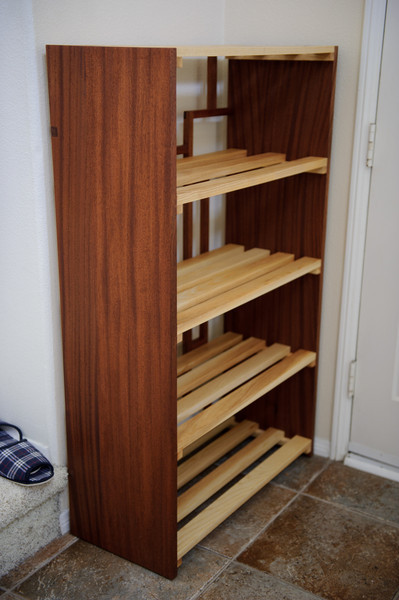 Shoe Rack - Sipo and ash