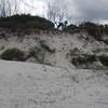 Dune erosion prior to beach scraping
