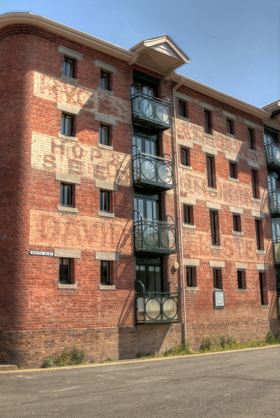 An old warehouse on the river front at Worcester