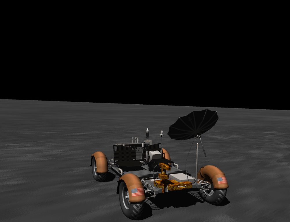 Lunar rover. Fairly accurately modeled.