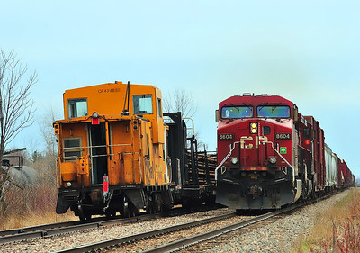 Canadian Pacific, CWR Train, Lacolle, Qc