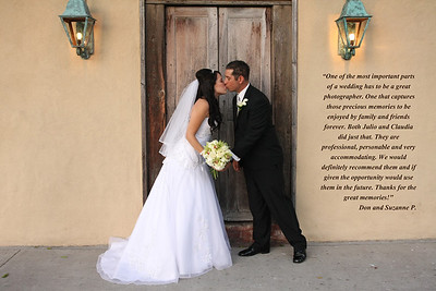 "CLIENT PRAISE""Kunhardt photography is like no other, They became family, Their work was so wonderful and they captured all the moments in such great ways...Thanks Julio and Claudia.""     Nicole & Randy""One of the most important parts of a wedding has to be a great photographer. One that captures those precious memories to be enjoyed by family and friends forever.   Both Julio and Claudia Kunhardt did just that. They are professional, personable and very accommodating. We would definitely recommend them and if given the opportunity would use them in the future. Thanks for the great memories!""    -Don and Suzanne P."