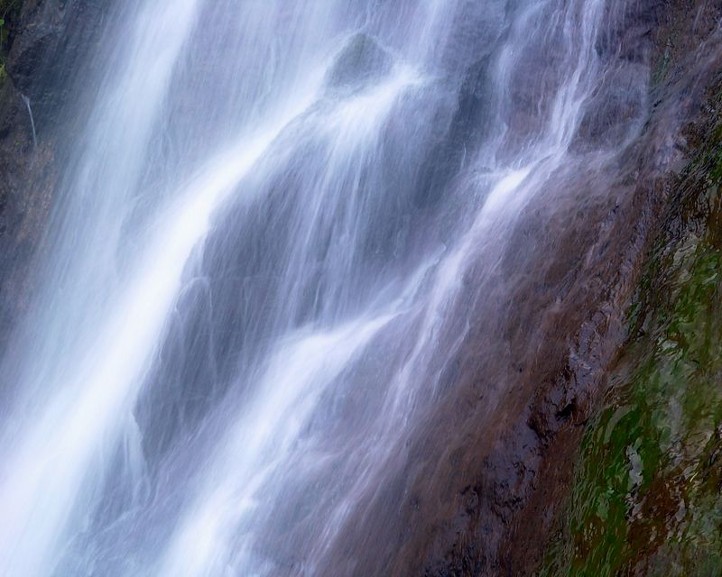 Bridal Veil Falls, California<br /> <br /> Recommended Sizes: 4 x 5, 8 x 10, 16 x 20