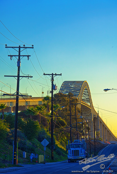 Gerald Desmond Bridge Two<br /> One Day Road Trip - Beach Cities from Encinitas to Mulholland Drive.<br /> by Jack Foster Mancilla - LensLord™
