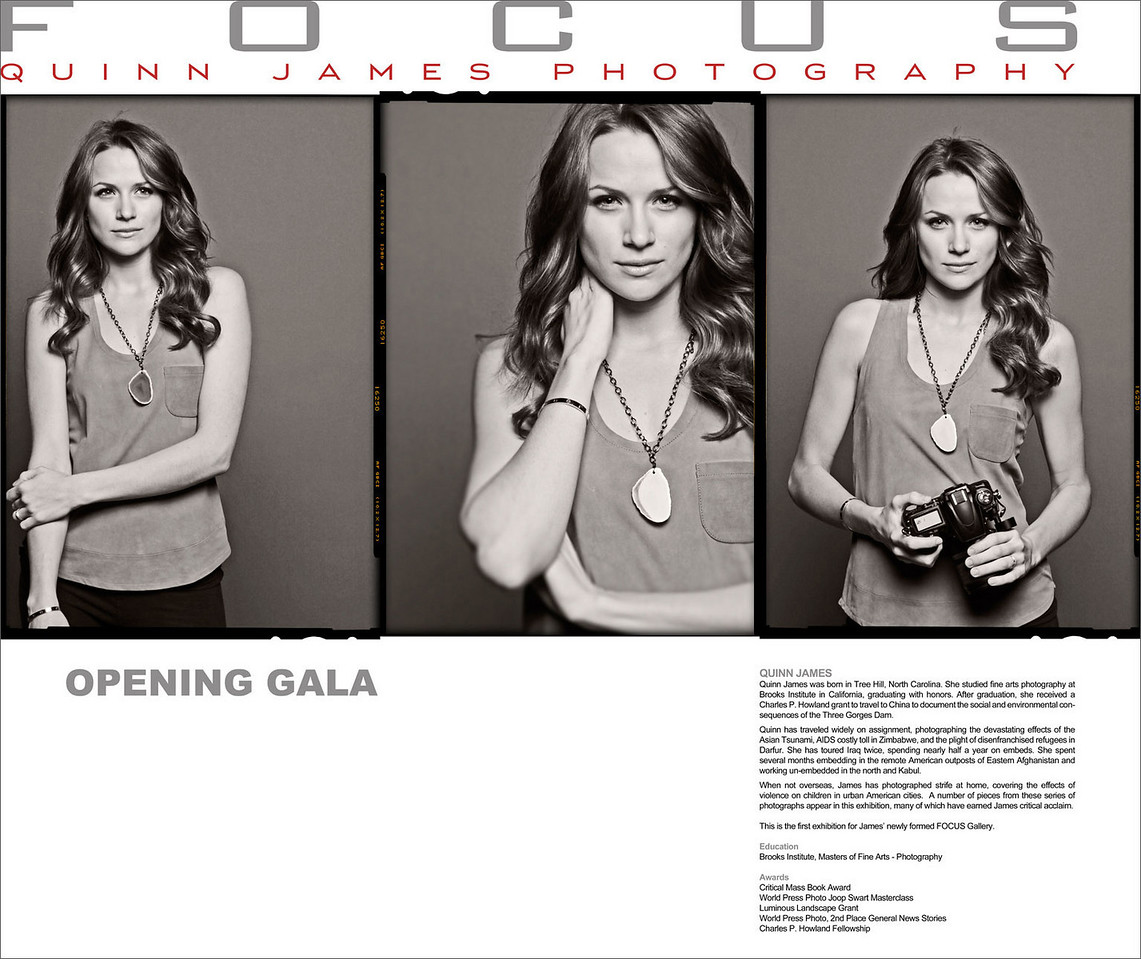 Shantel VanSanten plays photographer Quinn James on One Tree Hill. This is the poster announcing the opening of her gallery.