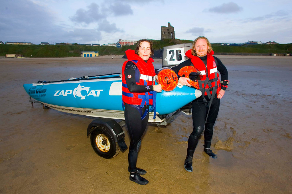 Zap Cat Racers Kieran Meehan and Selena O Sullivan who will compete in 2nd round of the Zap Cat  racing championship of Ireland as part of the World Fleadh.<br /> Photo Brendan Landy