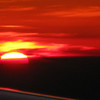 Sunset on the flight home from Virgin Gorga