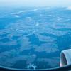 Very early morning, landing in Frankfurt. Tons of wind mills...