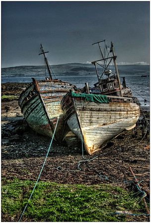 2 boats Isle of Mull, Scotland