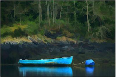 Resting Blue Boat, Ireland