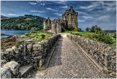Entering the Castle, Scotland