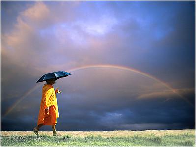 monk & rainbow