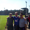 Mark, Lino, Tim. Outside Loftus Versfeld stadium, Pretoria, on the way into Serbia v. Ghana on June 13th