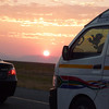 Sunset on the drive from Joburg to Rustenburg, location for USA-England on June 12th