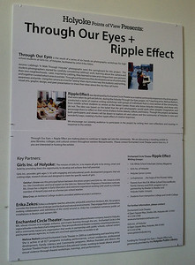 Ripple Effect project on display, April 2013.