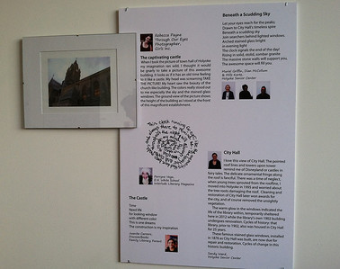 The photos and our writings were displayed at Open Square on April 4, 2013, as part of the Jerome Liebling GALA (a benefit for the Holyoke Public Library).