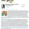 """Where do Fair Trade and environmental sustainability intersect?<br /> Blog for WorldofGood.com<br /> Published November 15, 2009<br /> Available online:  <a href=""""http://community.worldofgood.com/mudindigo/blog/2009/11/15/where_do_fair_trade_and_environmental_sustainability_intersect"""">http://community.worldofgood.com/mudindigo/blog/2009/11/15/where_do_fair_trade_and_environmental_sustainability_intersect</a>"""