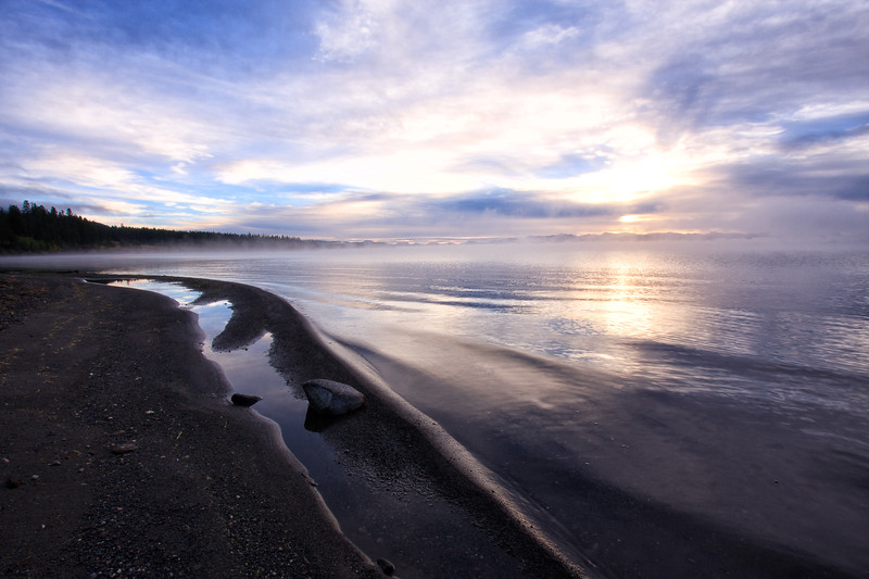 Yellowstone Lake sunrise 2