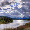 Oxbow Bend sunlight reflection