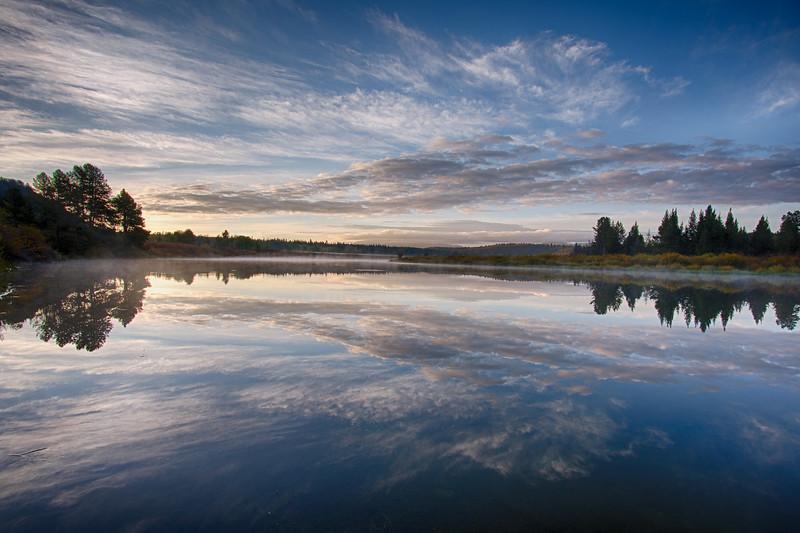 Oxbow Bend sunrise reflections 1